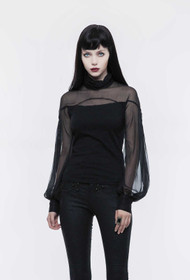 Detail image to PUNK RAVE Organza Blouse Top