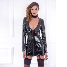 PATRICE CATANZARO Black Nurse PVC Dress
