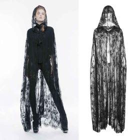 PUNK RAVE Lace Hooded Cloak