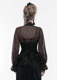 Detail image to PUNK RAVE Gothic Underbust Corset Black