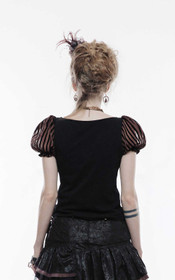 Detail image to PUNK RAVE Stripes Top Brown