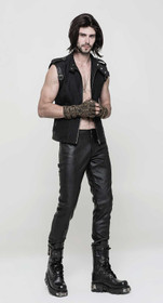 Detailbild zu PUNK RAVE Black Leatherette Pants