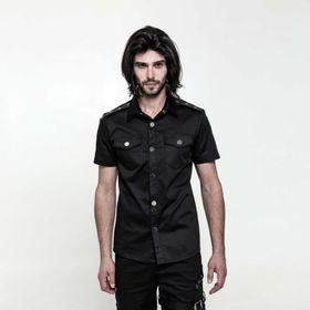 PUNK RAVE Herren Kurzarm-Gothic-Shirt - 2. Wahl