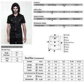 Detailbild zu PUNK RAVE Herren Kurzarm-Gothic-Shirt - 2. Wahl