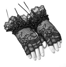 Detailbild zu PUNK RAVE PYON Spitzen-Handschuhe Schwarz