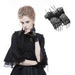 PUNK RAVE PYON Spitzen-Handschuhe Schwarz 001