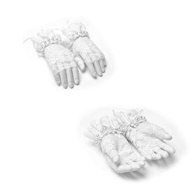 Detailbild zu PUNK RAVE PYON Spitzen-Handschuhe Weiß