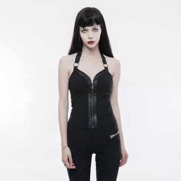 PUNK RAVE Neckholder Zip Top
