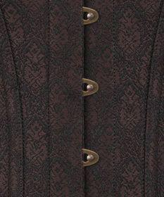 Detailbild zu VINTAGE GOTH Gothic Voll-Korsett Braun
