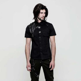 PUNK RAVE Shoulder Patch Gothic Shirt