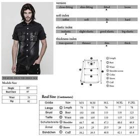 Detailbild zu PUNK RAVE Greyscale Gothic Shirt
