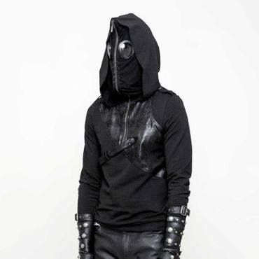 "PUNK RAVE Hoodie Sweat mit Maske ""Puck, The Fly"""