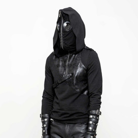 "Detailbild zu PUNK RAVE Hoodie Sweat mit Maske ""Puck, The Fly"""