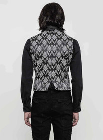 Detail image to PUNK RAVE Gothic Waistcoat Black-White