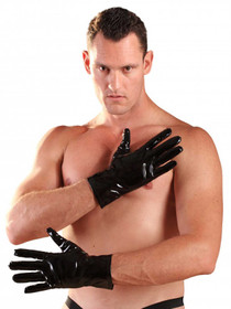 Detail image to HONOUR PVC Short Gloves Black