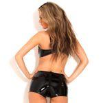 HONOUR Lack-Shorts Schwarz Mit Zip 001