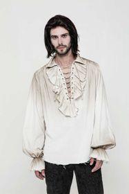 Detail image to PUNK RAVE Pirate Shirt Dirty White