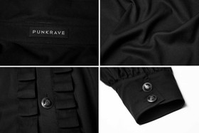 Detail image to PUNK RAVE Wave Gothic Shirt