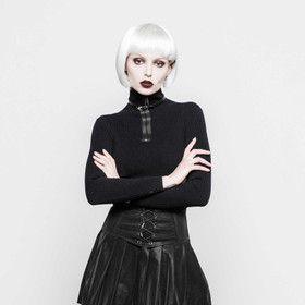PUNK RAVE Turtleneck Black