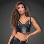 NOIR HANDMADE Power Zip Bustier Top 001