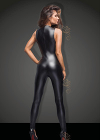 Detail image to NOIR HANDMADE Wetlook Jumpsuit w. Lace