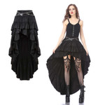 DARK IN LOVE Dip Hem Skirt 001