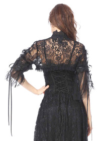 Detail image to DARK IN LOVE Black Lace Bolero