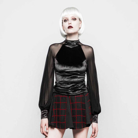 PUNK RAVE Black Velvet Dream Shirt