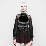 PUNK RAVE Black Velvet Dream Shirt 001