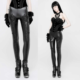Detail image to PUNK RAVE Gothic Love Leggings Black