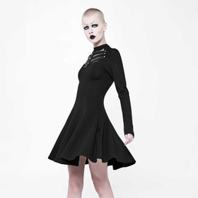 PUNK RAVE Black Skater Kleid