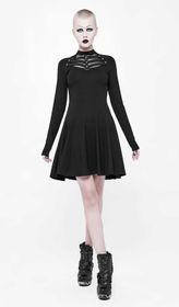 Detailbild zu PUNK RAVE Black Skater Kleid