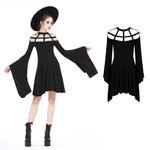 DARK IN LOVE Grid Neck Dress 001