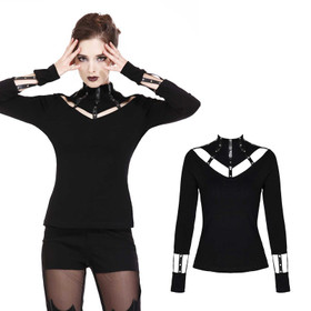 DARK IN LOVE Cut-Out Longsleeve Top