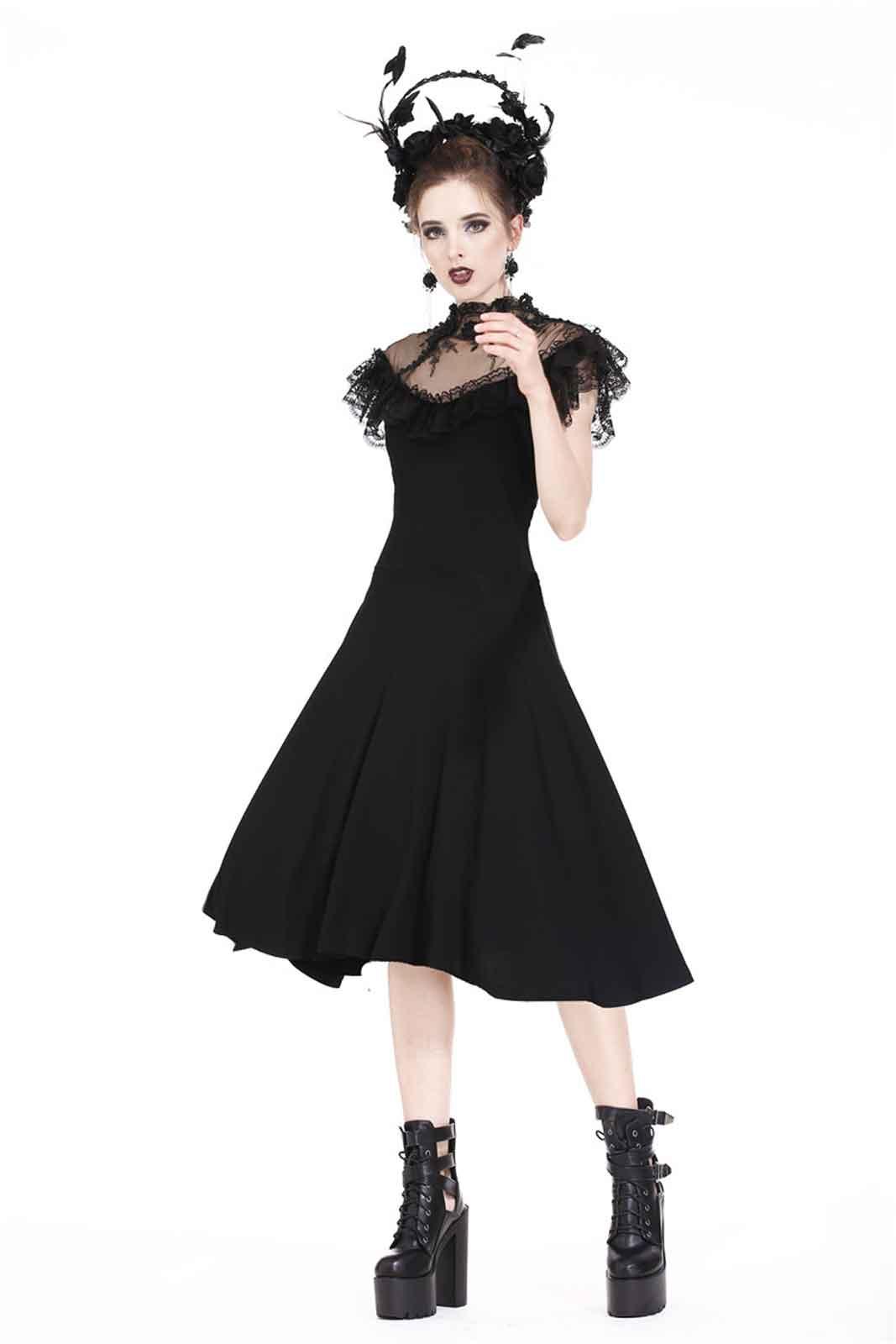 ... Detailbild zu DARK IN LOVE Gothic Rose Kleid ... 9b21b536e3