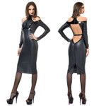 PATRICE CATANZARO Chiara Wetlook Dress 001