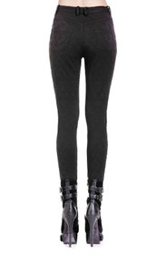 Detail image to DARK IN LOVE Gothic Romance Treggings