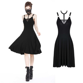 DARK IN LOVE Gothic Strap Dress