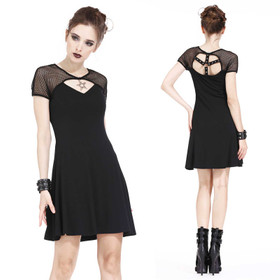 DARK IN LOVE Emo Star Gothic Kleid