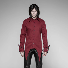 PUNK RAVE Gothic Shirt Red