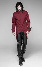 Detailbild zu PUNK RAVE Gothic Hemd Rot