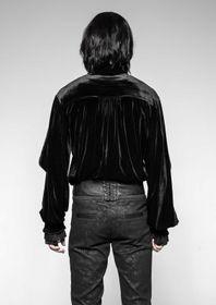 Detailbild zu PUNK RAVE Gothic Samt-Hemd