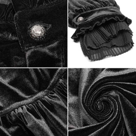 Detail image to PUNK RAVE Gothic Velvet Shirt