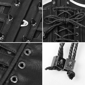 Detail image to PUNK RAVE Spiky Leather Corset
