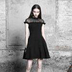 PUNK RAVE Black Lotus Dress 001