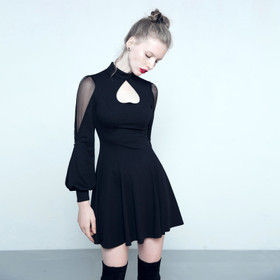 Detail image to PUNK RAVE Fallen Heart Dress