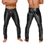 NOIR HANDMADE Power-Wetlook Pants w/ PVC Cod-Piece 001