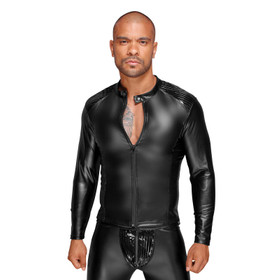 NOIR HANDMADE Power-Wetlook Male Jacket w/ PVC