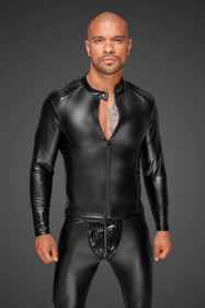 Detail image to NOIR HANDMADE Power-Wetlook Male Jacket w/ PVC
