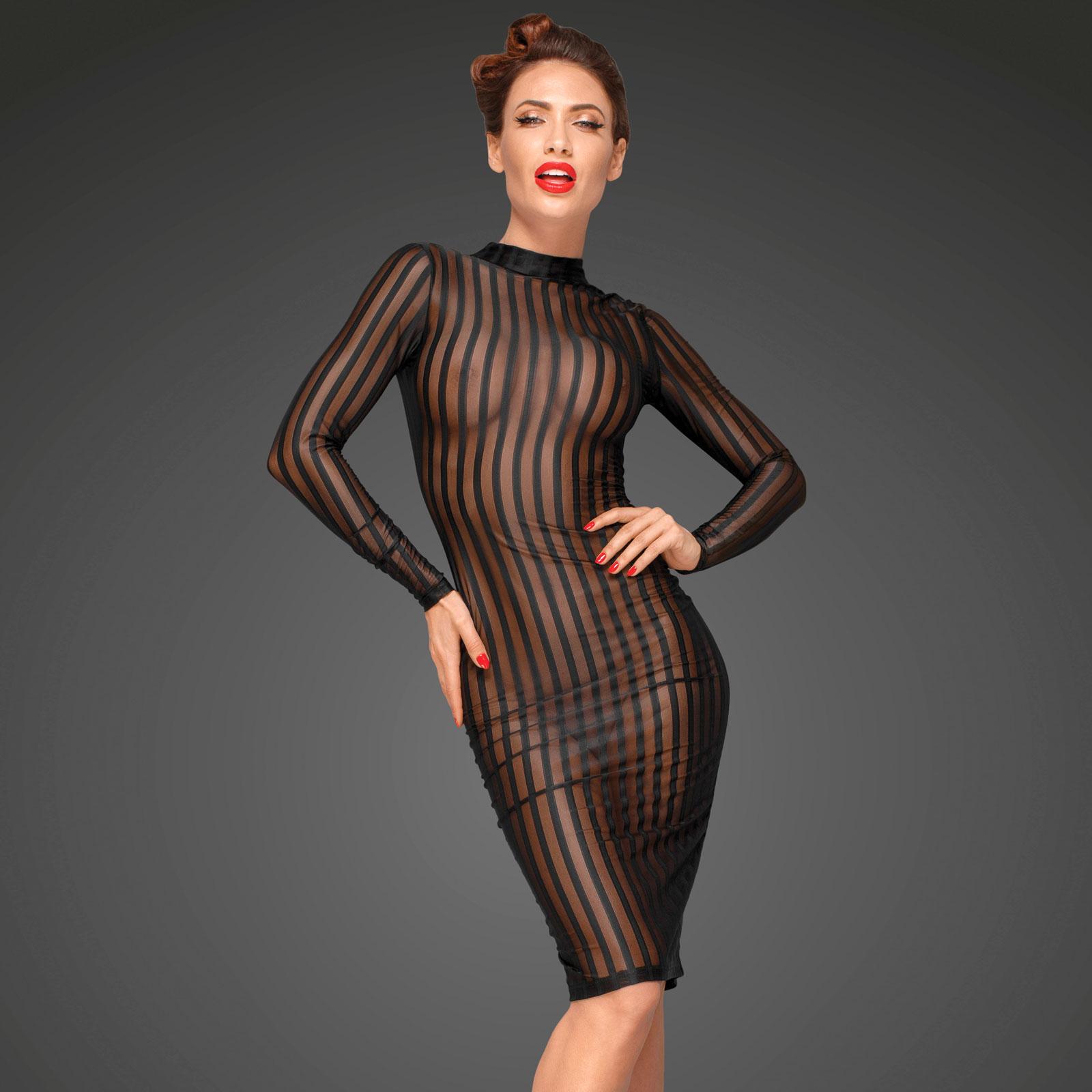 NOIR HANDMADE Transparentes Kleid  Andersartig
